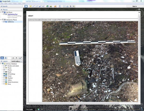 iPad data in use - revisiting field photos using google earth
