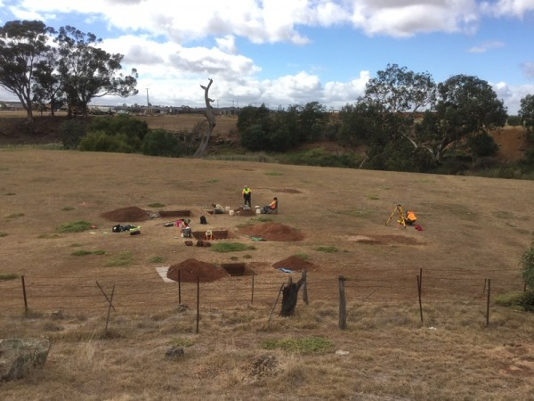 Excavated Salvage Trenches at Toolern Creek (J. Scibilia)